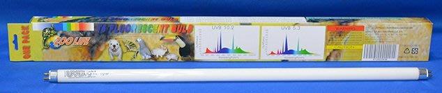(第2件半價)(21-129)ZOO LIFE 省電型T 5 UVB 10.2 燈管 12W 1.5尺