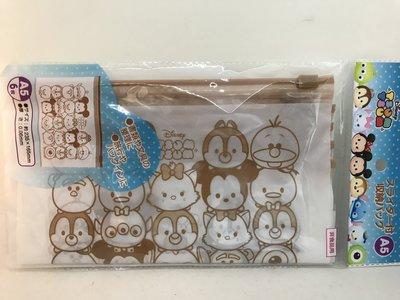 日本 TSUMTSUM A5 收納袋 夾鏈袋 6枚入