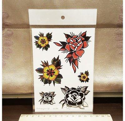 【萌古屋】Z系列熱帶花朵 - 男女防水紋身貼紙刺青貼紙K34