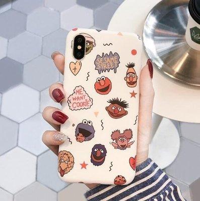 i8plus 手機殼 創意卡通芝麻街iPhone8X手機殼可愛女Xs/Max蘋果6s/7plus磨砂軟殼 手機套—莎芭