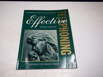 【考試院二手書】《Effective Telephoning》ISBN:0194570932│八成新(B11Z52)
