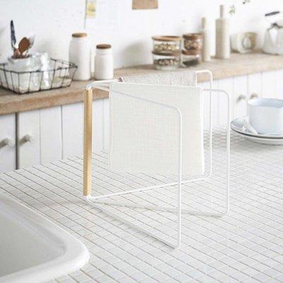 千禧禧居~BAOZAKKA北歐風廚房抹布晾曬架浴室毛巾收納整理置物架鐵藝晾干架