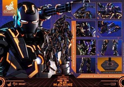 Hot Toys Hottoys Neon Tech Diecast War Machine mms553D35 啡盒