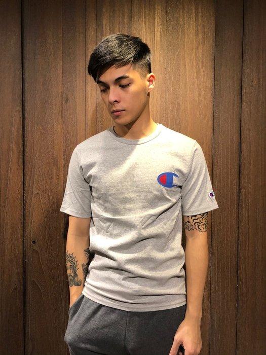 美國百分百【全新真品】 Champion 冠軍 T恤 短袖 T-shirt logo 素T 高磅數 潮牌 上衣 G435