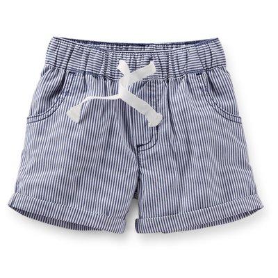 【Nichole's歐美進口優質童裝】Carter's中性款抽繩百搭直條紋短褲 現貨*Old Navy/OshKosh