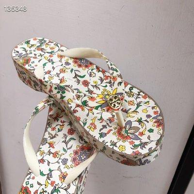 【全新正貨私家珍藏】TORY BURCH Cutot Wedge Flip Flops 夏季款坡跟&平底款涼鞋