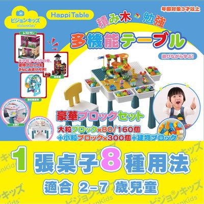 日本品牌 VisionKids HappiTable 多功能積木桌 兒童多功能書桌ㅣ雙面桌板設計