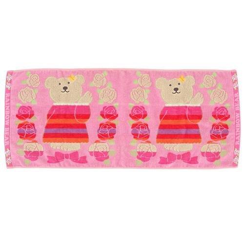日本製 花園 彩虹熊 系列 長毛巾