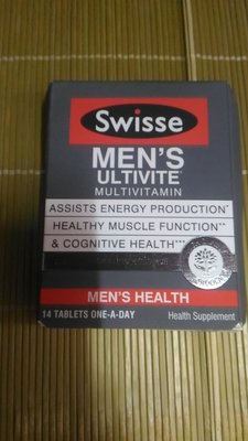 Swisse men's ultivite multi vitamin 14粒裝 1盒