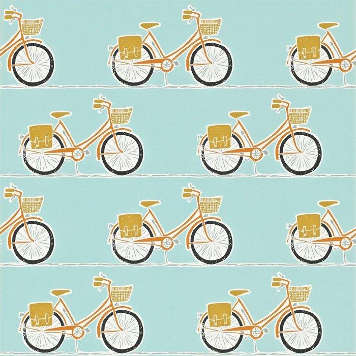 【Uluru】英國期貨壁紙.北歐簡約 CYKEL (4色) 自行車 腳踏車 淑女車 壁紙 ES106系列
