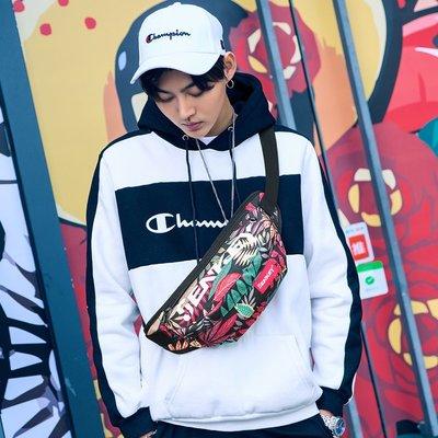 新款韓版帆布包胸包斜挎包背包戶外運動包迷你多功能夜光腰包男潮戶外雙肩背包大容量