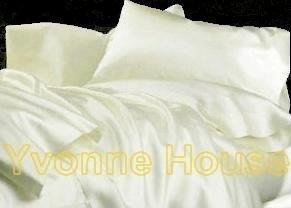DR==YvH==PillowCase Silk 台灣長纖絲緞 珍珠白 全絲緞 信封型薄枕套一個 (現貨)