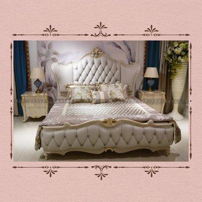 [紅蘋果傢俱] CT-010 新古典系列床 床頭櫃  高檔 法式 奢華 雙人床 歐式床 新古典床 床台 床架