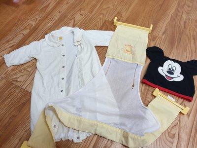 黃色小鴨洗澡網 (堪用)6 個月黃色小鴨衣服,帽子,全部購於丁丁藥局,三樣合售