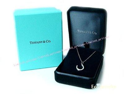 《Eco-jewelry》【Tiffany&Co】經典款 馬蹄鑲鑽鉑金Pt950項鍊~專櫃真品 未使用
