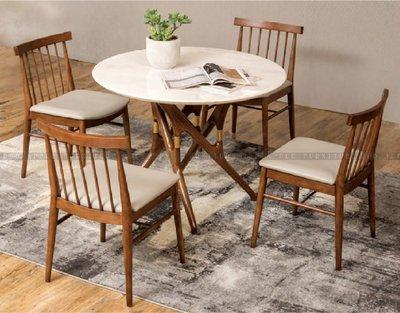 [紅蘋果傢俱]SBE-007 大理石餐桌椅 實木 餐桌 餐椅 簡約 現代 飯桌