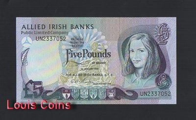 【Louis Coins】B964-NORTHERN IRELAND-1990北愛爾蘭紙幣,5 Pounds