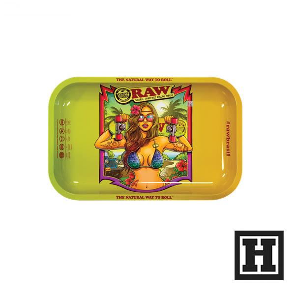 [H Market] 西班牙原裝 RAW Metal Rolling Tray Brazil2 S 捲菸盤 鐵盤 捲菸