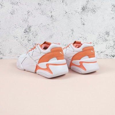 Fly Sneaker體育運動裝備Puma彪馬聯名款Nova珊瑚橙女子休閒防滑秋冬保暖老爹鞋跑鞋371211