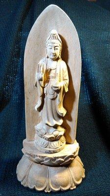【準提坊】寶瓶觀音,老加里萬丹沉香,底座為香樟蓮花座,總高296mm