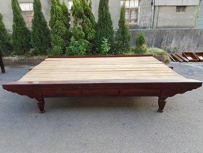 彰化二手貨中心(原線東路二手貨)--- 早期古董半檜木加大紅眠床  早期檜木床 早期床