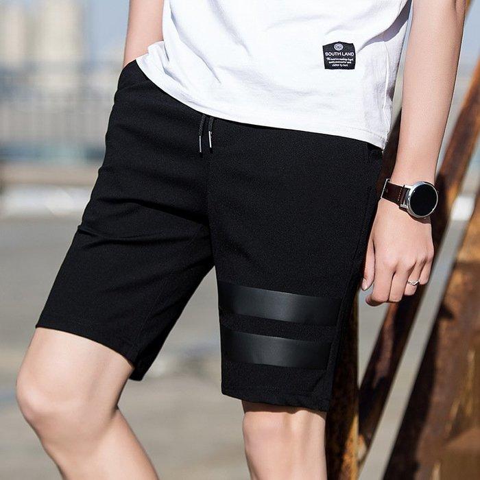夏季褲男式休閒褲 2018夏季新款短褲男純色修身運動褲薄款沙灘褲 修身褲