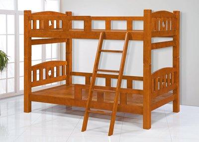 【南洋風休閒傢俱】精選時尚床 雙層床 木頭床 上下床 兒童床 -歐尼斯3.5尺全實木雙層床 CY132-01