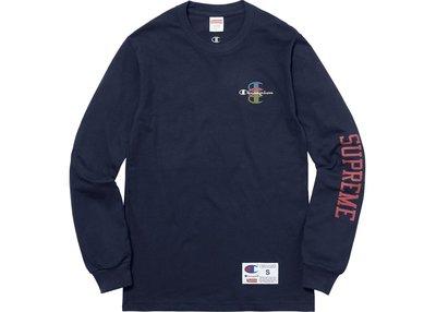 【紐約范特西】現貨 2017 新品Supreme Champion Stacked C L/S Tee 冠軍聯名長袖T恤
