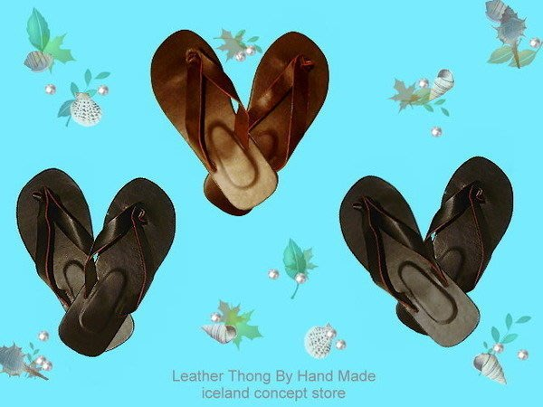 iceland ~ 全手工皮製人字夾腳涼鞋 / 鞋子 個性服飾 (賠錢賣NT$780,買到賺到)