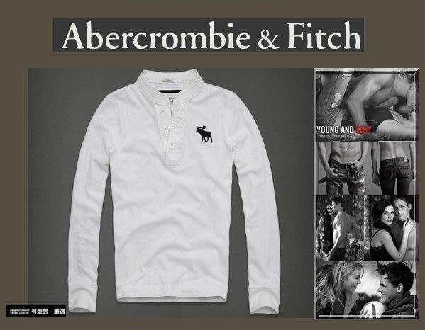有型男~ A&F Abercrombie&Fitch旗艦店大麋鹿亨利領 Giant Mountain白 S M L XL