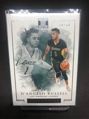 D'angelo Russell 2016-17 Impeccable Base 羅素 白國寶 限量99張