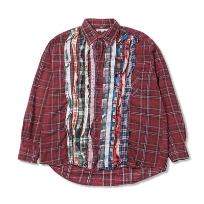 21SS NEEDLES REBUILD BY NEEDLES FLANNEL SHIRT RIBBON SHIRT 全新正品現貨 下標前請先詢問 可刷卡分期
