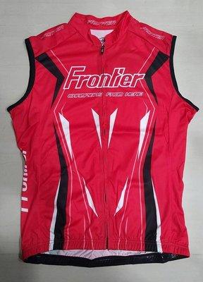 ~特價~台灣品牌Frontier前線國際 Lance 男款自行車無袖車衣 紅色 XL號