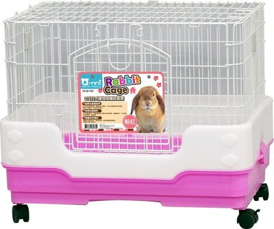 Q nni 2尺日式抽屜式 寵物兔精緻套房 兔籠 貂籠 防噴尿室內籠Q102(粉紅款Q-102)每件2,080元