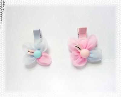 韓國進口【悠情侖莎】手工泡泡花髮夾/甜美可愛/花季少女的髮夾/兒童髮夾/小朋友髮夾