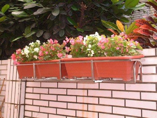 ☆成志金屬☆S-640方型不鏽鋼可伸縮花架 花台 花籃,材料實在,獨家橫向長度可調整。