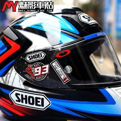 魅影車貼 摩托車SHOEI頭盔鏡片貼紙 X14 X12 Z7 93紅螞蟻個性貼花