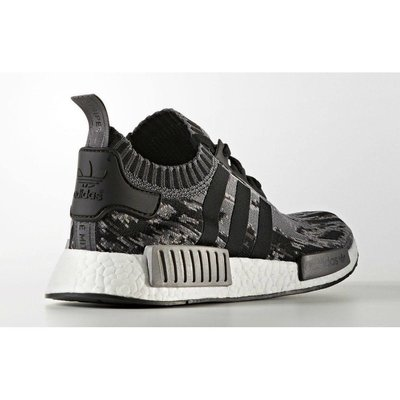 ADIDAS NMD R1 PRIMEKNIT GLITCH CAMO 黑色虎紋迷彩潮流慢跑運動鞋男女