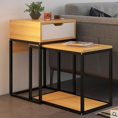 『格倫雅』歐意朗沙發邊幾小茶幾簡約迷妳小桌子客廳沙發邊櫃創意臥室床頭桌^15741
