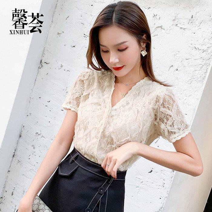 很仙的襯衣抖音同款女裝2019新款潮夏季女士襯衫韓版心機設計感女-青木居家