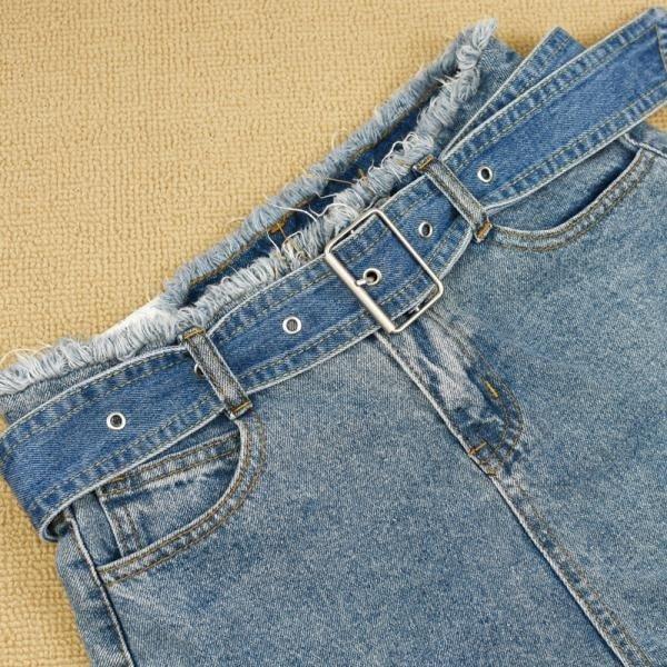 春季上新 牛仔腰帶女 裝飾半身裙短褲寬款皮帶 簡約時尚針扣褲帶韓版布帶
