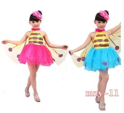 【優上精品】表演服小蜜蜂演出服爵士舞蹈服萬聖節動物幼兒蝴蝶合唱服(Z-P3187)