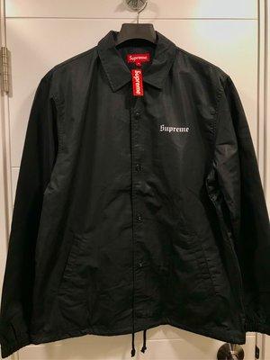 全新supreme black coach jacket nan goldin 黑色 size M 2018
