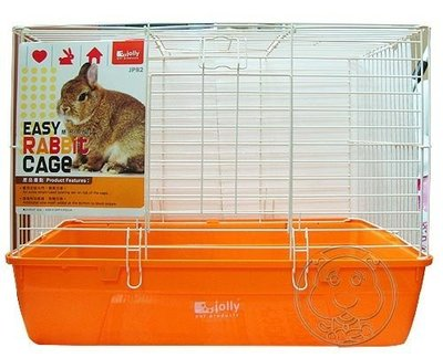 【🐱🐶培菓寵物48H出貨🐰🐹】(免運)IOLLY》JP82 簡易兔籠(橙色) 限量下殺1699元