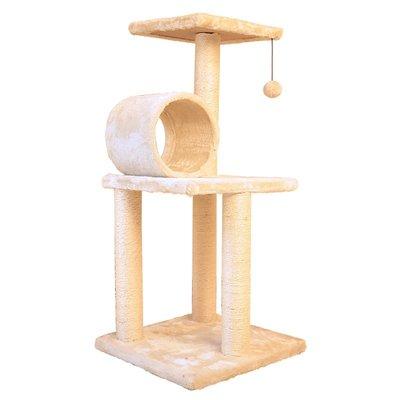 劍麻大小貓爬架貓窩貓樹貓抓板貓玩具貓別墅房子貓爬柱貓洞塔HTCC