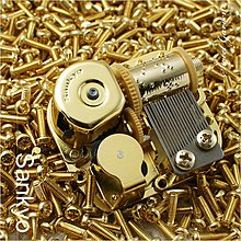 Sweet Garden, 日本Sankyo 金色標準十八音梳音樂鈴機芯 可選曲 DIY音樂盒換曲