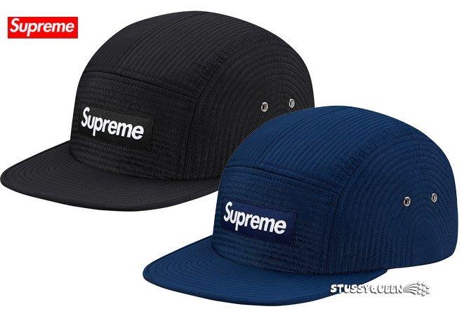 【超搶手】全新正品2015 秋冬Supreme Contour Stitch Camp Cap Box 素色 五分割帽