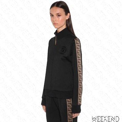 【WEEKEND】 FENDI FF Logo 側邊織帶 休閒 外套 黑色 20春夏