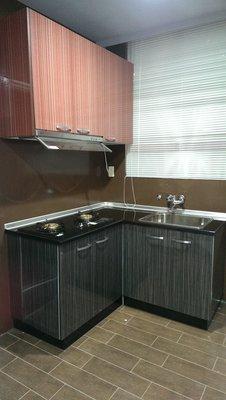 亞毅系統櫥櫃吊櫃流理台歐化廚具 可訂做 L型流理台 一字型流理台 不鏽鋼檯面 不鏽鋼桶身全省安裝