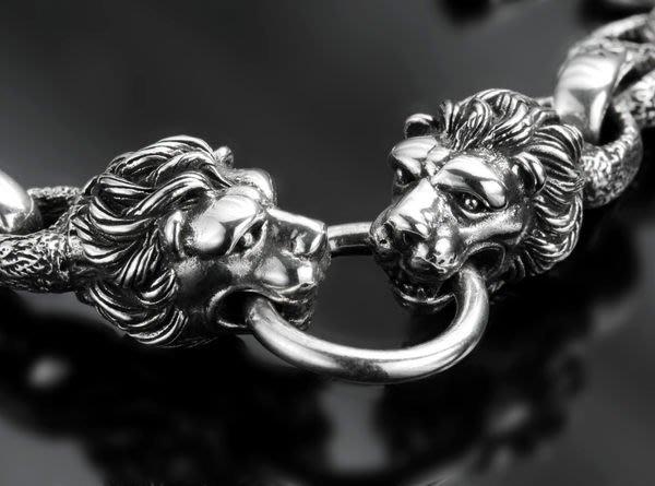 【創銀坊】獅子 lion 925純銀 手鍊 手環 項鍊 墜子 腰鍊 戒指 戒子 哈雷 騎士 龍 老虎 豹 克羅心 獅子座